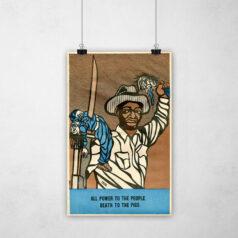 Poster - Movimento Pantera Negra - Poder ao Povo