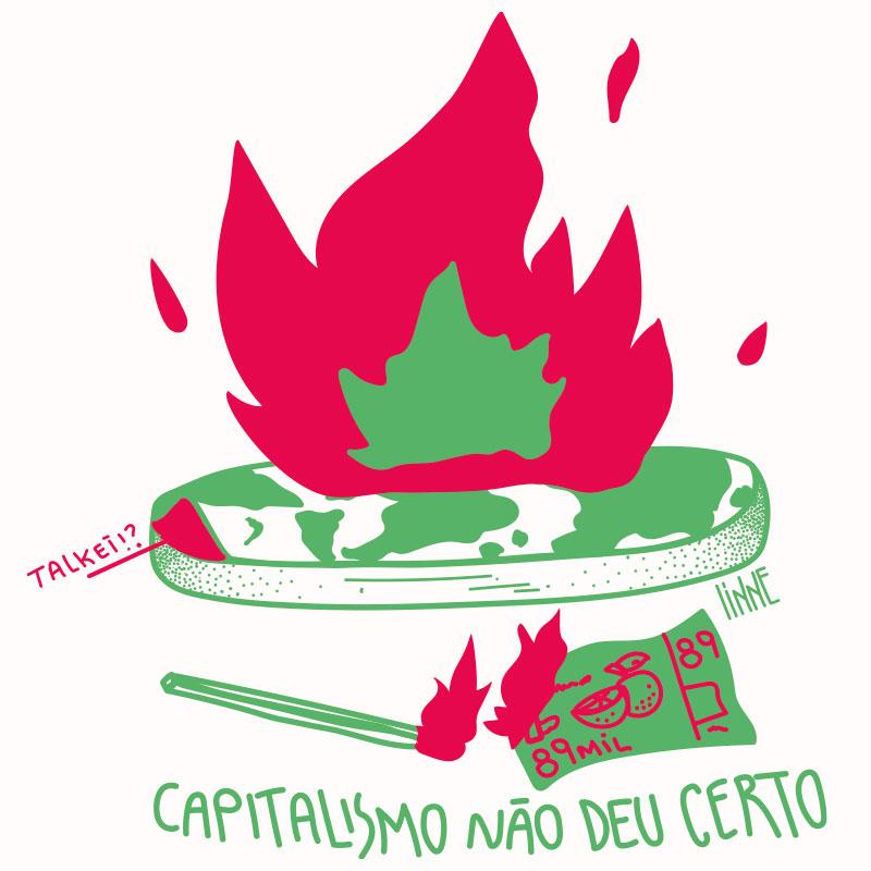 Ilustração Capitalismo não deu certo - 2 Alinne Martins