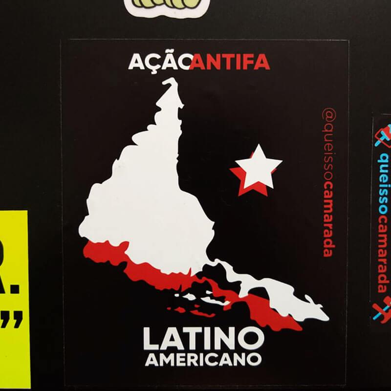 adesivo Ação antifa Latino américa