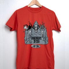 Camiseta Sobrevivente do caos por Gilmar Carvalho - Vermelho