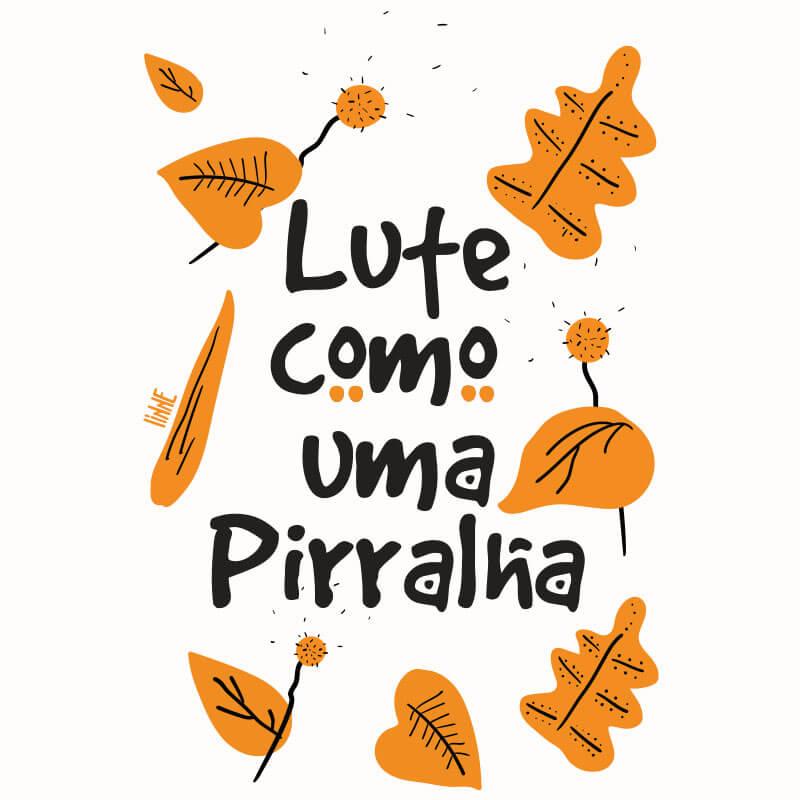 Ilustração Lute como uma pirralha por Alinne Martins