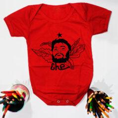 Body pra bebe vermelho manga curta - Che guevara