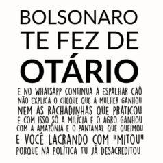 Camiseta Bolsonaro te fez de otario ilustraçao