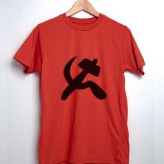 Camiseta foice e martelo comuna - vermelho