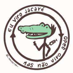 Ilustraçao Eu viro jacaré mas não viro gado por _docontra_