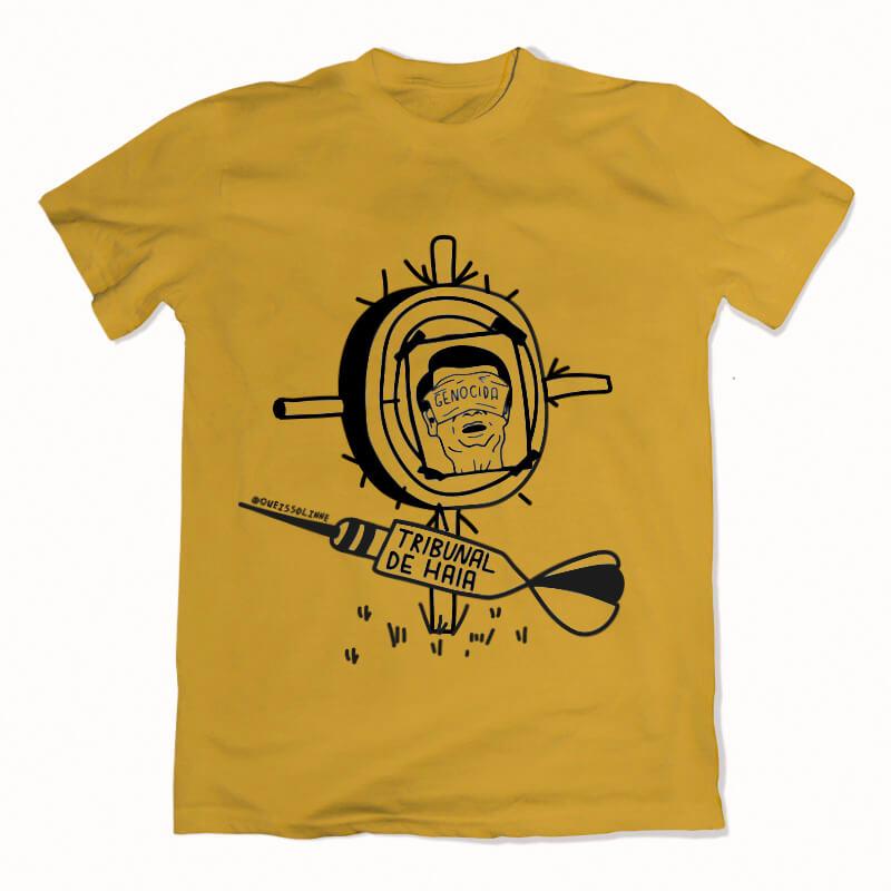 camiseta amarelo - Tribunal de haia bolsonaro