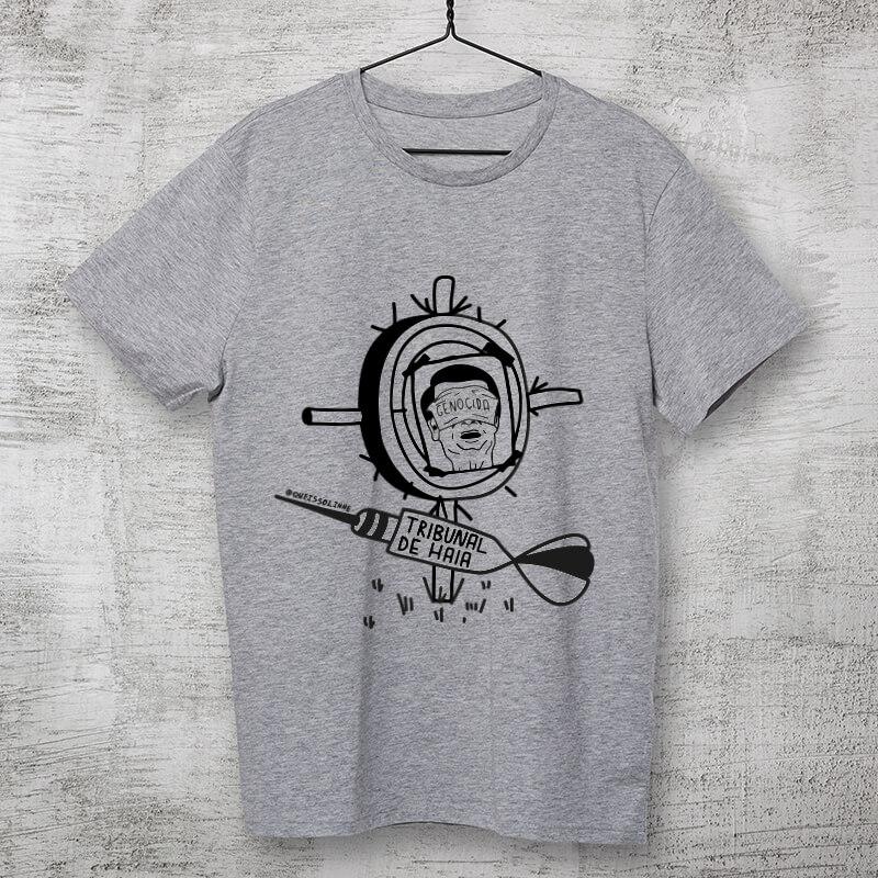 camiseta cinza - Tribunal de haia bolsonaro