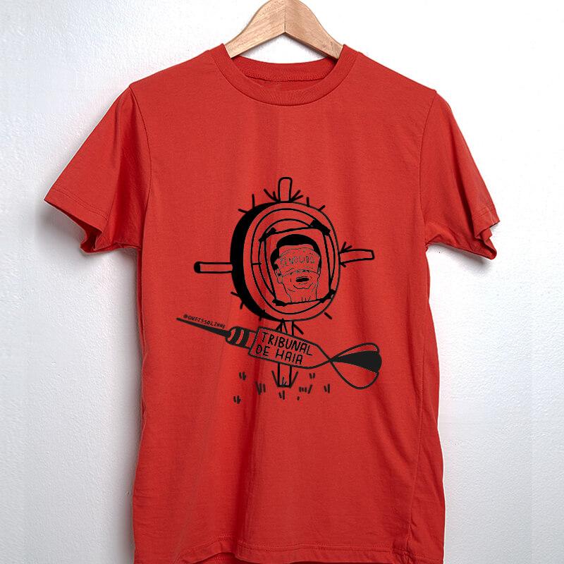 camiseta vermelha - Tribunal de haia bolsonaro