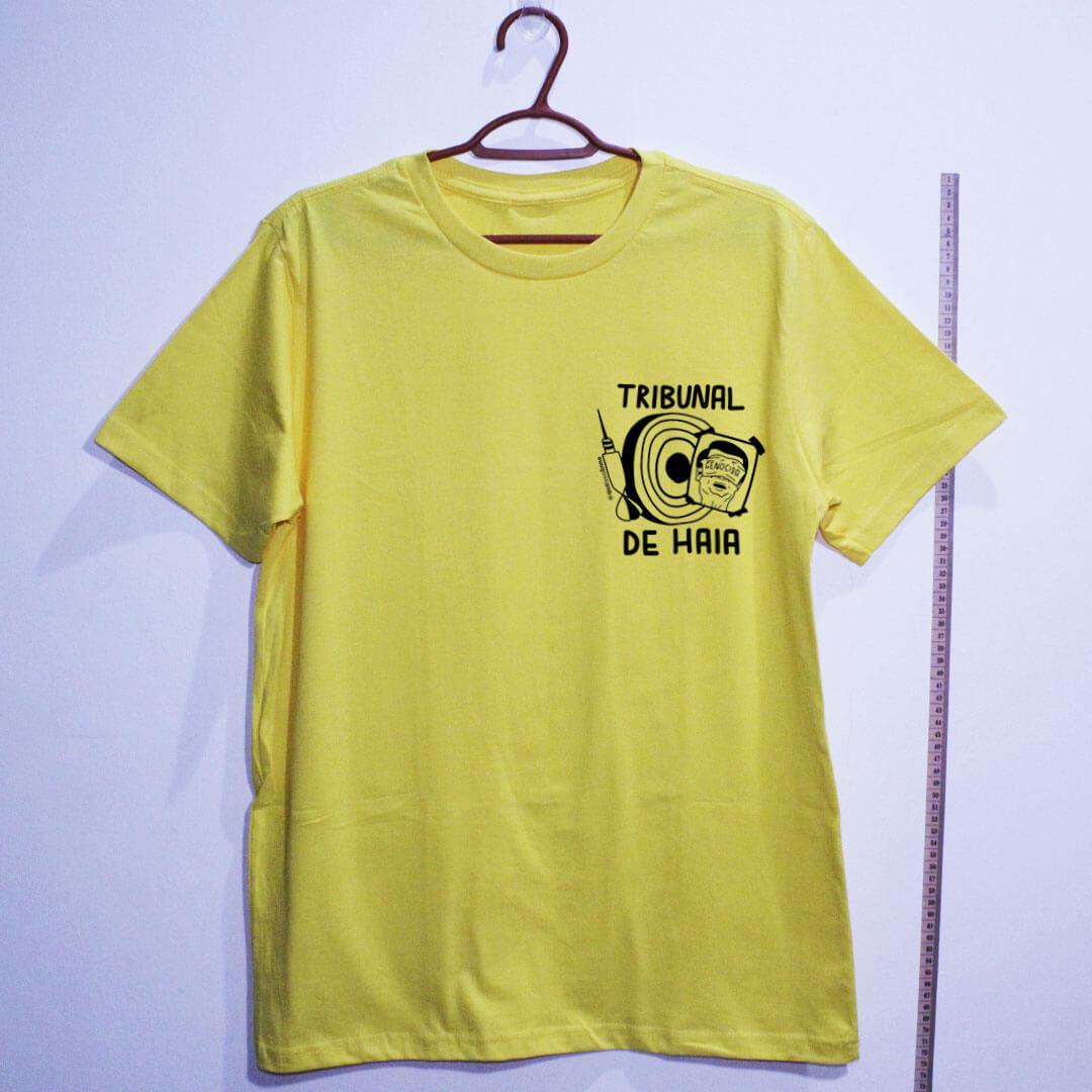 camiseta-Fora-Bolsonaro-Tribunal-de-Haia-amarela