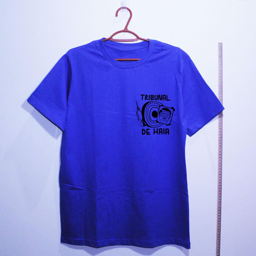 camiseta-Fora-Bolsonaro-Tribunal-de-Haia-azul