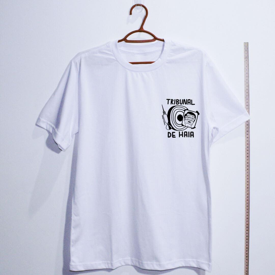 camiseta-Fora-Bolsonaro-Tribunal-de-Haia-branca