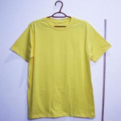 Camiseta basica de algodão 30,1 penteada amarela