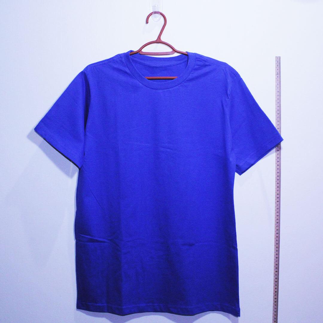 Camiseta basica de algodão 30,1 penteada azul