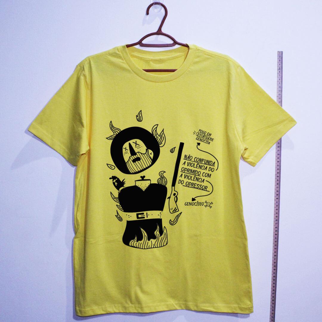 camiseta-borba-gato-amarela algodão