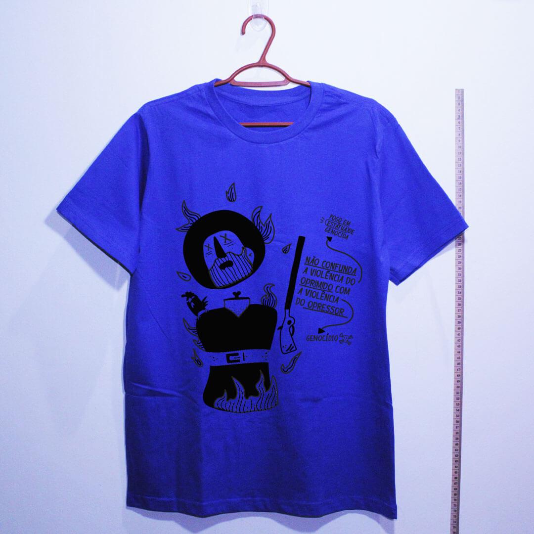 camiseta-borba-gato-azul algodão
