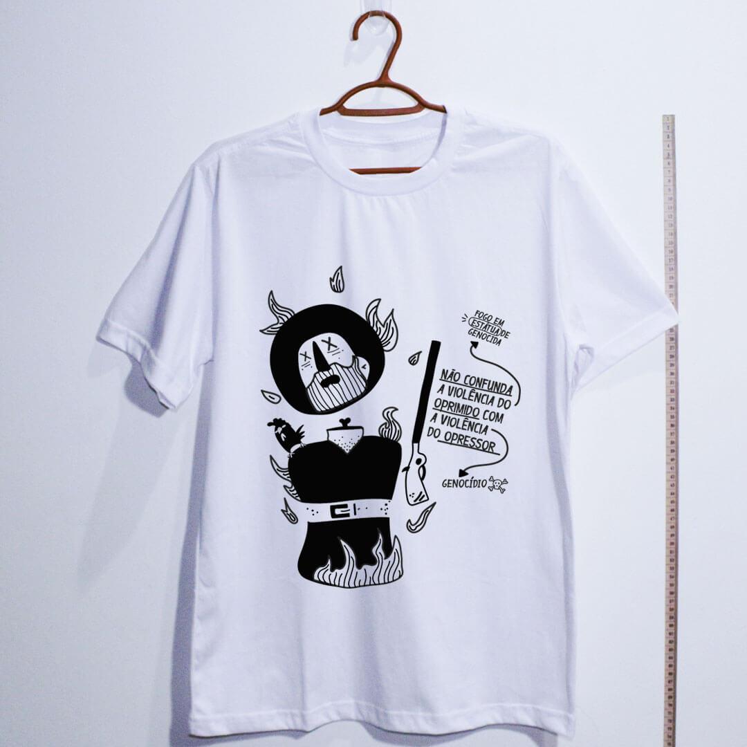 camiseta-borba-gato-branca algodão