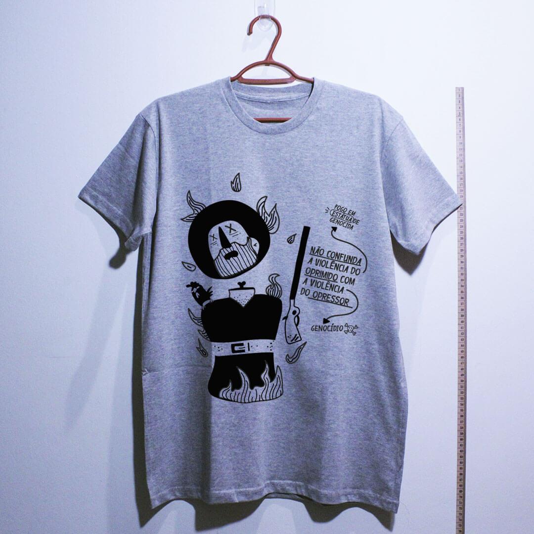 algodão camiseta-borba-gato-cinza