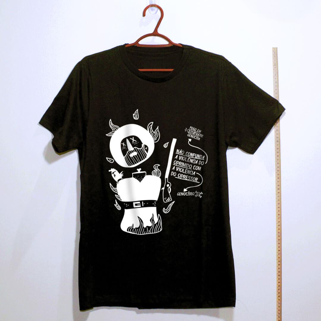 camiseta-borba-gato-preta algodão