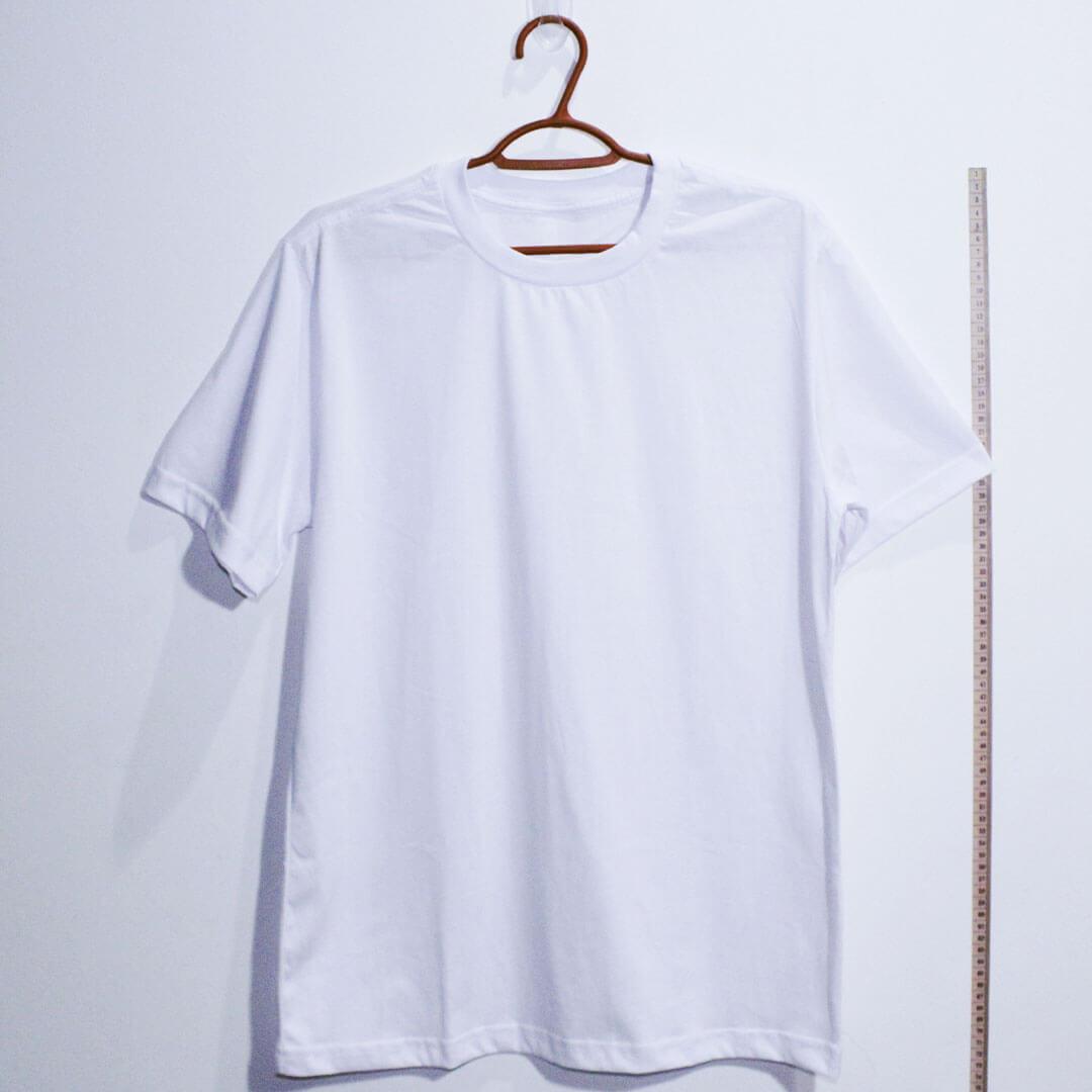 Camiseta basica de algodão 30,1 penteada branca