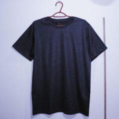Camiseta basica de algodão 30,1 penteada chumbo