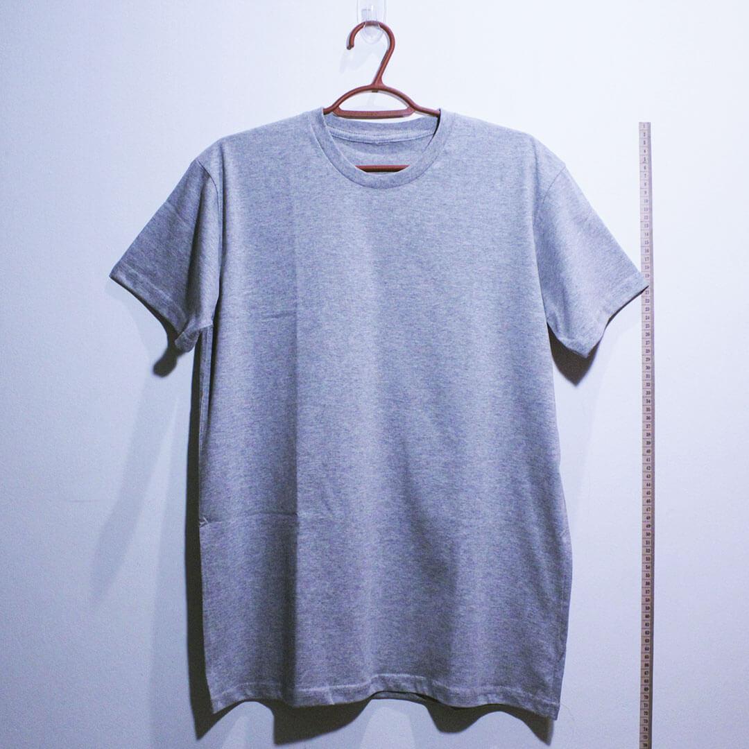 Camiseta basica de algodão 30,1 penteada cinza mescla