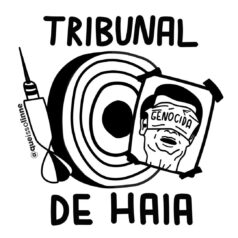 Ilustração Tribunal de Haia por alinne martins