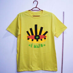 camiseta de algodão-cannabis-amarela