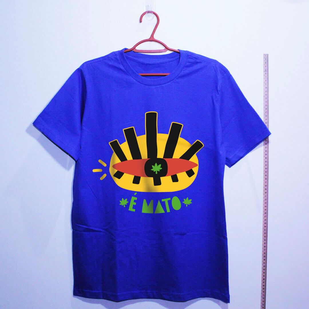 camiseta de algodão-cannabis-azul