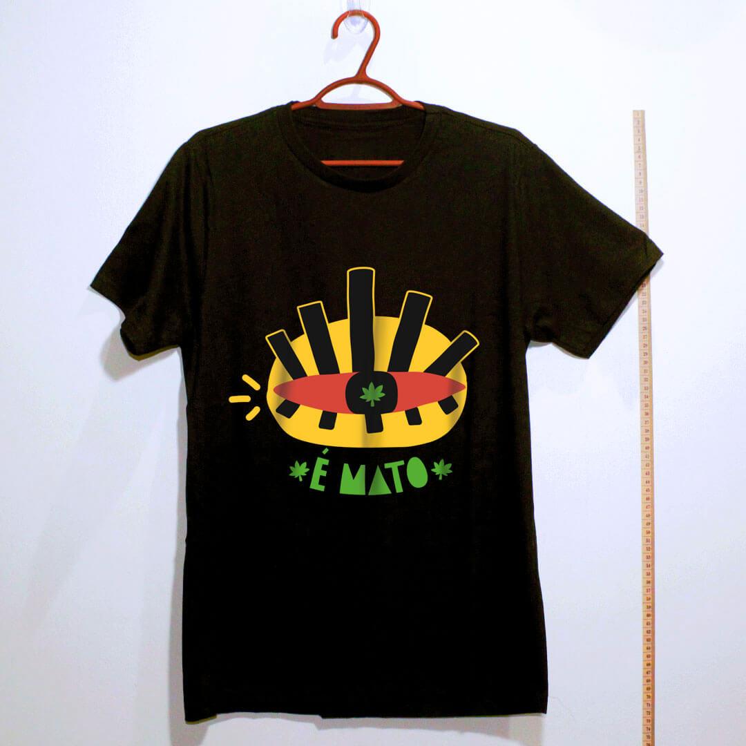 camiseta de algodão-cannabis-preto