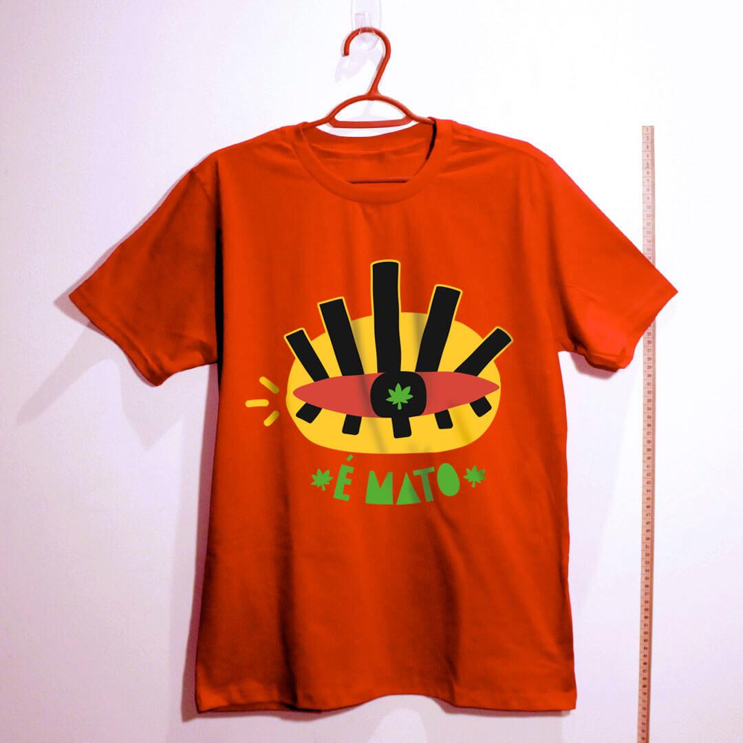 camiseta de algodão-cannabis-vermelha