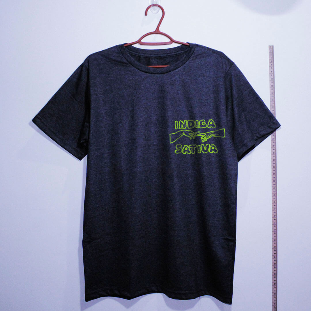 Camiseta de algodão Indica Sativa chumbo
