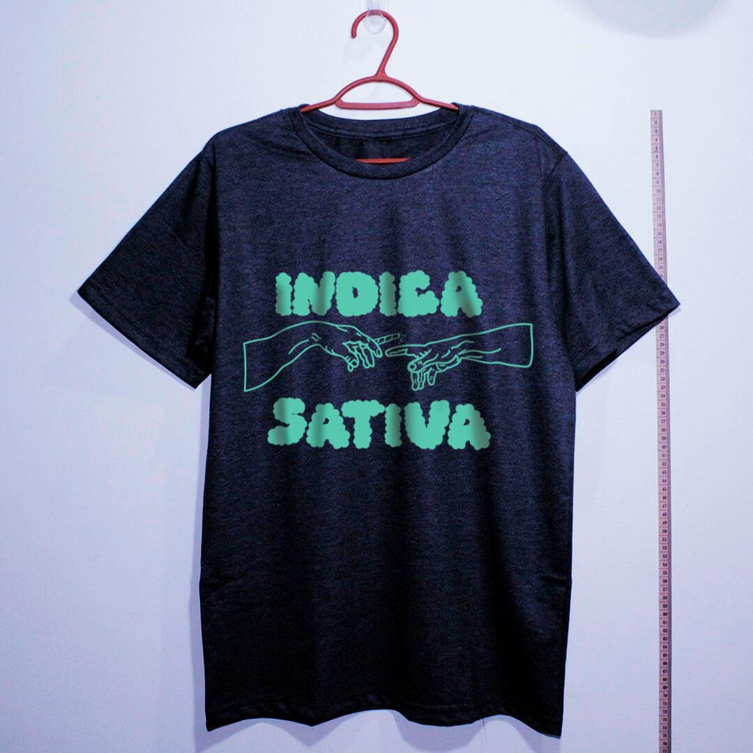 camiseta de algodão-maconha indica-chumbo