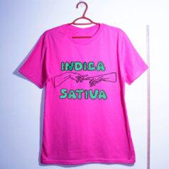 camiseta de algodão-maconha indica-rosa